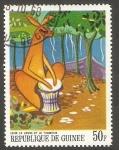 Stamps : Africa : Guinea :  360 - La liebre Leuk y el tambor, cuento