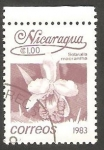 Stamps : America : Nicaragua :  1256 - Flor