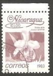 Sellos del Mundo : America : Nicaragua : 1256 - Flor