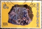 Stamps : Africa : Botswana :  5 thebe sobre 5 cents. 1976