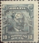 Stamps : America : Brazil :  Intercambio 0,20 usd 10 reis 1906