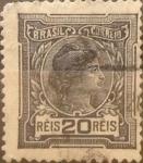 Stamps : America : Brazil :  Intercambio 0,25 usd 20 reis 1918