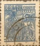 Stamps : America : Brazil :  Intercambio 0,20 usd 1,20 cruzeiros 1947