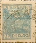 Stamps : America : Brazil :  Intercambio 0,20 usd 0,40 cruzeiros 1947