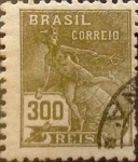 Sellos de America - Brasil -  Intercambio 0,20 usd 300 reis 1936