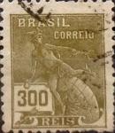 Stamps : America : Brazil :  Intercambio 0,20 usd 300 reis 1936