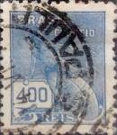 Sellos de America - Brasil -  Intercambio 0,25 usd 400 reis 1940
