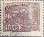 Stamps : America : Brazil :  Intercambio 0,40 usd 10 reis 1920