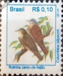 Stamps : America : Brazil :  Intercambio 0,20 usd 0,10 reis 1994