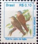 Sellos del Mundo : America : Brasil : Intercambio 0,20 usd 0,10 reis 1994