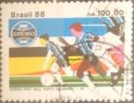 Sellos de America - Brasil -  Intercambio 0,35 usd 100 cruzeiros 1988