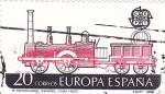 Stamps Spain -  Europa CEPT-1º Ferrocarril español (17)