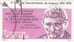 Sellos de Europa - España -  V Centº del Descubrimiento de América (17)