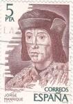 Stamps Spain -  JORGE MANRIQUE- personajes españoles (17)
