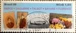 Stamps : America : Brazil :  Intercambio 1,10 usd 1,50 cruzeiros 1989