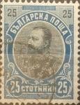 Stamps : Europe : Bulgaria :  Intercambio jxa 0,20 usd 25 stotinki 1901