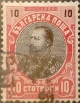 Stamps : Europe : Bulgaria :  Intercambio jxa 0,20 usd 10 stotinki 1901