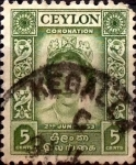 Stamps : Asia : Sri_Lanka :  Intercambio 0,20 usd 5 cents. 1953