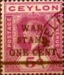 Stamps : Asia : Sri_Lanka :  5 cents. 1918