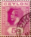 Stamps : Asia : Sri_Lanka :  5 cents. 1912