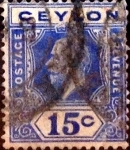Stamps : Asia : Sri_Lanka :  15 cents. 1912