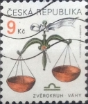Stamps : Europe : Czech_Republic :  Intercambio crxf 0,25 usd 9 koruna 1999
