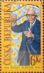 Stamps : Europe : Czech_Republic :  Intercambio crxf 0,25 usd 6 koruna 1998