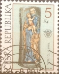 Stamps : Europe : Czech_Republic :  Intercambio crxf 0,25 usd 5 koruna 1999