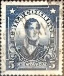 Stamps : America : Chile :  Intercambio 0,20 usd 5 cents. 1928