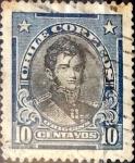 Sellos de America - Chile -  Intercambio 0,20 usd 10 cents. 1915