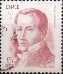 Sellos de America - Chile -  Intercambio 0,20 usd 5 peso 1975