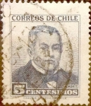 Stamps : America : Chile :   5 cents. 1960