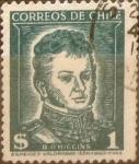 Sellos de America - Chile -   Intercambio 0,20 usd 1 peso 1952