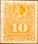 Sellos del Mundo : America : Chile :  Intercambio 0,35 usd 10 cents. 1885