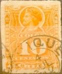 Stamps America - Chile -   Intercambio 0,35 usd 10 cents. 1885