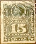 Sellos de America - Chile -   Intercambio 0,55 usd 15 cents. 1892