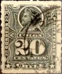 Sellos del Mundo : America : Chile :  Intercambio 0,55 usd 20 cents. 1886
