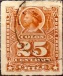 Stamps : America : Chile :   Intercambio 0,55 usd 25 cents. 1892