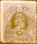 Sellos de America - Chile -   Intercambio 0,85 usd 30 cent. 1901