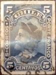 Sellos de America - Chile -  Intercambio 0,35 usd 5 cent. 1900