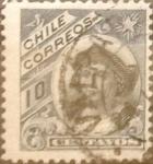 Sellos de America - Chile -  Intercambio 0,20 usd 10 cent. 1905