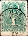 Stamps : America : Chile :  1 cent. 1881
