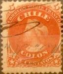 Sellos del Mundo : America : Chile : Intercambio 0,20 usd 5 cents. 1867