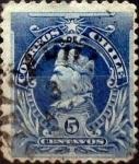 Sellos de America - Chile -  Intercambio 0,20 usd 5 cents. 1901