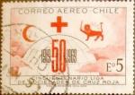 Stamps : America : Chile :  Intercambio 0,20 usd 5 escudos 1969