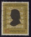 Stamps Germany -  108 - Centº de la muerte del compositor Robert Schumann