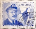 Stamps Chile -  Intercambio 0,20 usd 40 cents. 1967