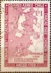 Stamps : America : Chile :  Intercambio hbr 0,20 usd 1 escudo 1968