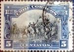 Sellos de America - Chile -  Intercambio 0,20 usd 5 cents. 1910