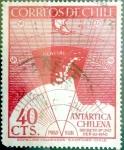 Stamps : America : Chile :  Intercambio 0,30 usd 40 cents. 1947